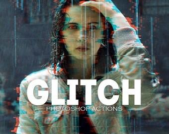 Pro Glitch Photoshop PSD Actions