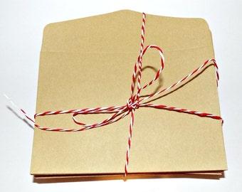 Set of 25 Kraft Brown Envelopes for wedding invitation, party invitation, letter envelopes