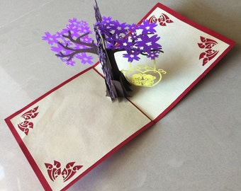 Tree Pop Up Card, Pop-Up Card, 3D Card, Birthday Pop Up Card, Birthday Card