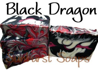 Black Dragon Shea Magic Luxury Soap Bar - 4 ounces, homemade soap, hand-crafted soap, best seller, gift for him, cold process soap