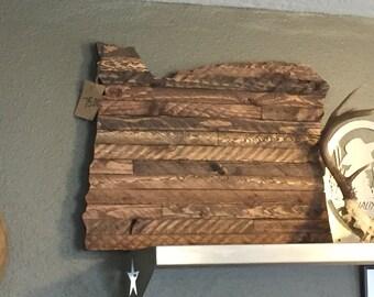 Wooden Oregon Wall Decor