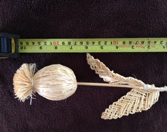 Hand crafted poppy seed head ideal for home decoration and flower arranging NEW