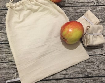 Reusable produce bags, zero waste shopping bags, bags for bulk bin, eco friendly food bags, reusable produce bags