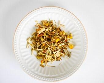 Chamomile Tea Loose Leaf tea Organic Lemongrass Tea Organic Herbal Tea Calming Tea Sleep Tea Rest Tea organic tea Floral Tea Headache Tea