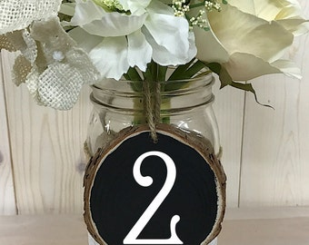 Table Numbers // Rustic Wedding Table Numbers // Wood Table Numbers // Wedding Decor // Wedding Table Numbers // Round Table Numbers
