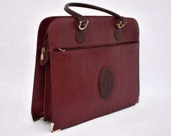 Must de Cartier vintage bag original Cartier Claret folder