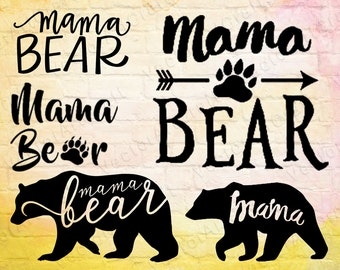 Sale! Mama bear svg, mama bear clipart, mama bear print, mama bear cut, mama bear tshirt, mama bear cricut, mama bear digital download #CT22