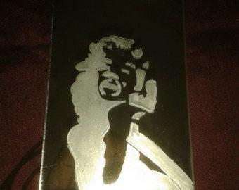 Marilyn Monroe Hand Engraved Mirror