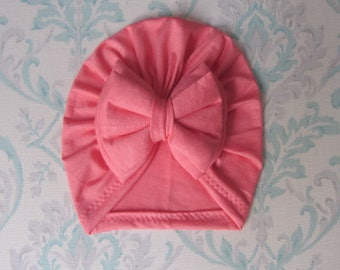 Double Bow Pink Mamly Turban