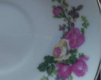 1970s Zhongguol porcelain tea cup saucer