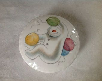Royal Doulton The Snowman Gift Collection 1985 Balloons Trinket Box Bone China