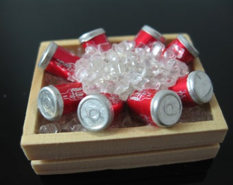 1/12 scale Miniature dolls house coke on ice