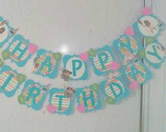 Moana Birthday Banner