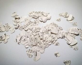 Sheet Music Heart Confetti