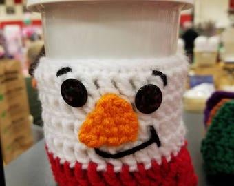 Snowman or Santa cup cozy