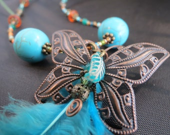Fly Free Butterfly Necklace