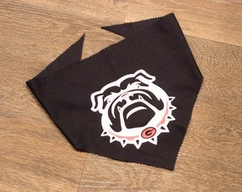 Handmade Custom University of Georgia UGA Bulldogs Over the Collar & Tie Dog Bandana