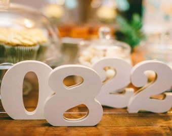 Wood wedding table numbers - wedding table number - wedding decorations - rustic table number - large wooden number - wooden table decor