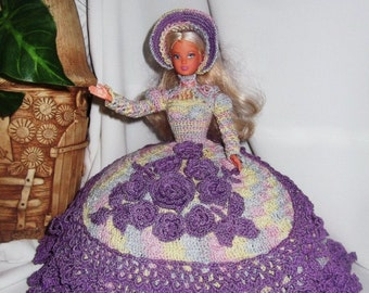 Barbie clothes / Elegant dresses for Barbie / crochet barbie doll clothes / crochet barbie dress