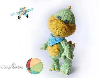 "Crochet pattern ""Dino"""