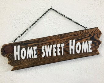 Wood sign home sweet home sign