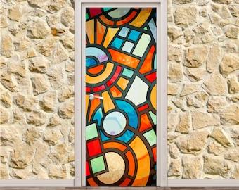 Abstract Door Poster/Sticker