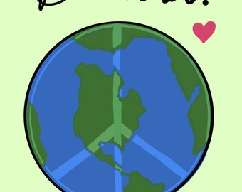 Be Kind. Love, Earth Charity print