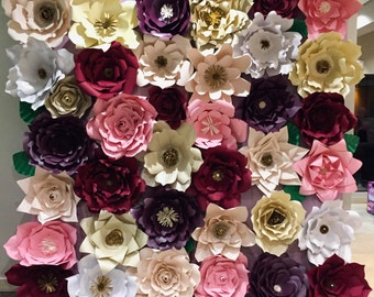 Paper Flower Wall Backdrop-wedding-event-party