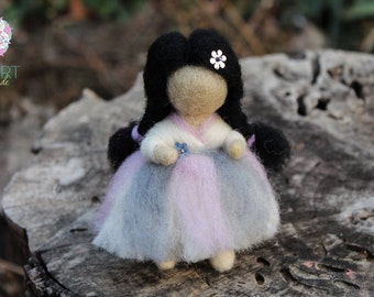 Spring Flower Fairy - Needle Felted Fairy - Waldorf Doll - Spring Decoration - 100% Pure Wool