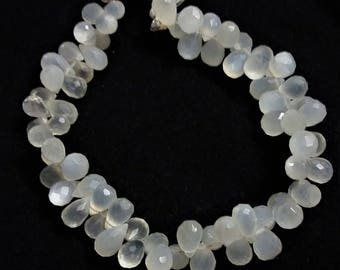 """Natural CEYLON MOONSTONE faceted drops beads,ceylon moonstone drops , 4x7 mm - 7x10 mm ,7.5""""strand[E0900]ceylon moonstone"""