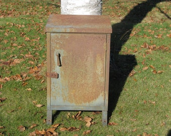 Rusty Gold Metal Cabinet
