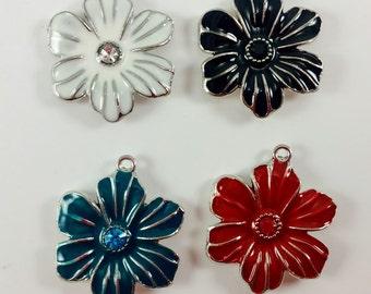 Flower Enamel Pendant Metal
