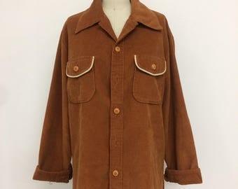 Vintage corduroy western shirt in dark brown