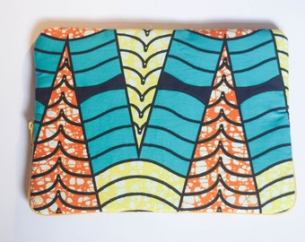 Sea Cavern - Ankara - African Print - MacBook Pro Sleeve - Laptop Sleeve - Laptop Case - Laptop Bag