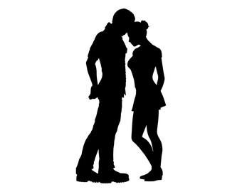 Valentine svg designs Couple SVG files for silhouette Lovers Digital clip art Png files Svg files for cricut Silhouette cameo cut files