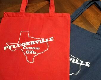 Custom tote bag, shower gift, custom bag, tote bag, custom vinyl tote, customized tote, birthday gift, gift for women, personalized tote bag