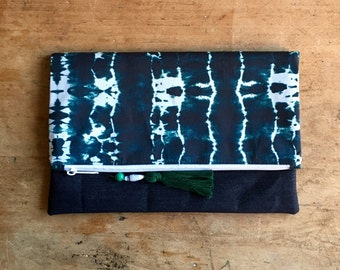 Tie-Dye Fold-Over Clutch