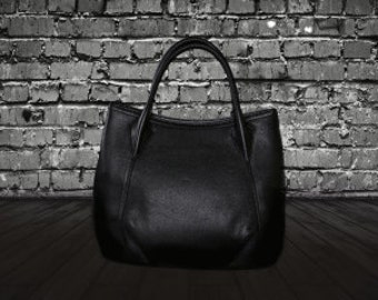 Stylish Black Soft Leather Carbotti handbag
