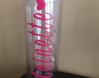 Personalized Skinny Tumbler with Lid and Straw