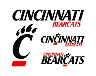 Cincinnati Bearcats Cut File, Cincinnati Bearcats SVG Files, Cincinnati Bearcats Cutting, Cincinnati Bearcats Cuttable SVG, Instant Download
