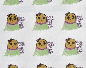 Stylish Potato, body positive, fashionista decorative planner stickers
