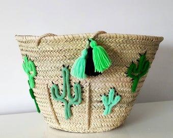 Beach Cactus basket