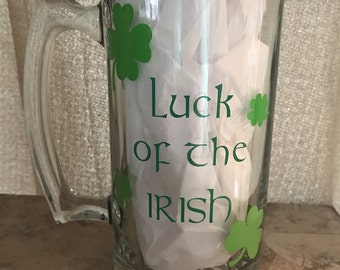 Luck Of The Irish Beer Mug