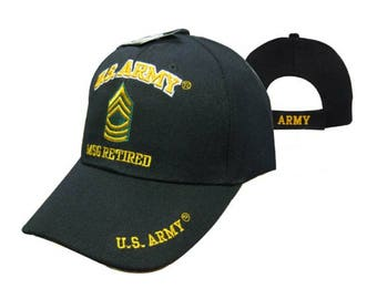 US Army MSGT Retired Cap