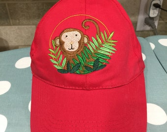 Monkey Lovers cute Baseball Caps