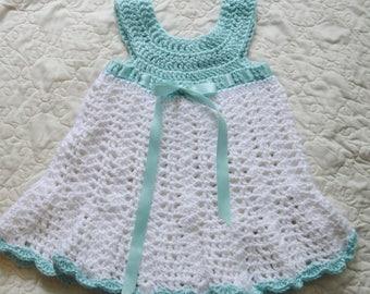 Pastel & White Summer Girl's Dress