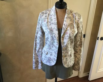 Tommy Hilfger print jacket lots of detail size 10 med