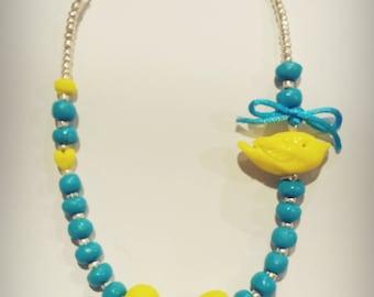 Lemon & Aqua girls Necklace