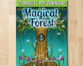 Adult Coloring Book: Magical Forest