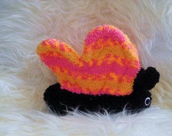 butterfly, Stuffed Animal Hand Stitched Sock Critter  stuffy cuddly toy fuzzy flutterbye butterflies insect lovies